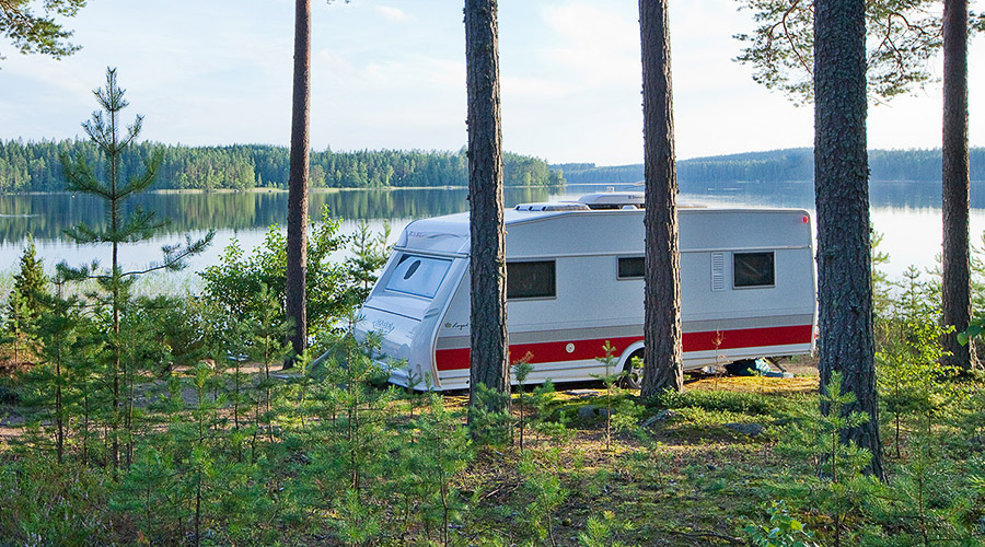 Camping at Lake Korpijärvi