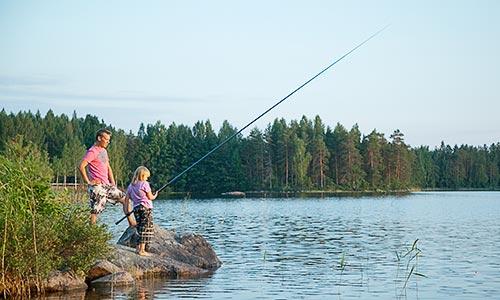 Kalastusvälineiden vuokraus ja kalastus