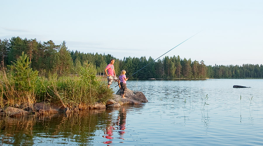 Fishing at Lake Korpijärvi