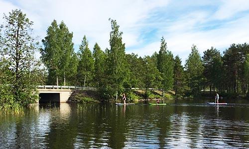 SUP boards at Lake Korpijärvi