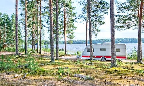 Campsite at Lake Korpijärvi
